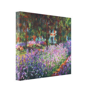 Monet's garden in Giverny by Claude Monet Canvas Print