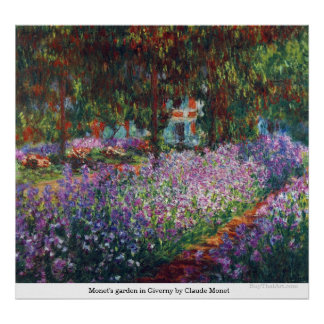 Monet's garden in Giverny by Claude Monet Poster