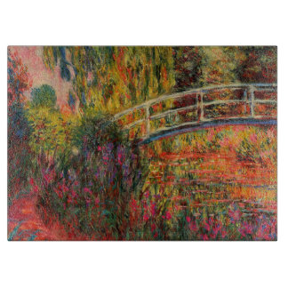 Monet's Garden Large Glass Cutting Board