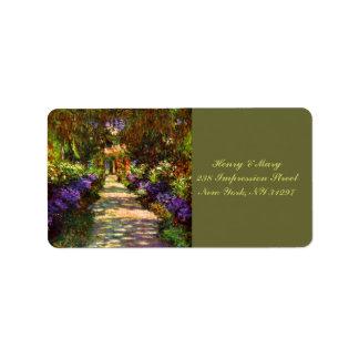 Monet's Garden Path Label
