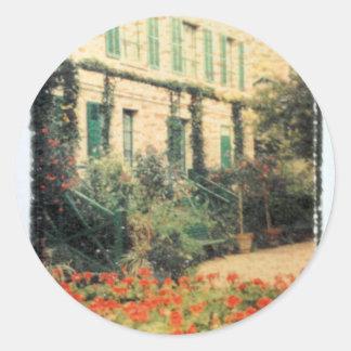 Monet's Giverny Classic Round Sticker