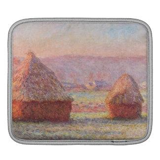Monet's Haystacks, White Frost, Sunrise Sleeve For iPads