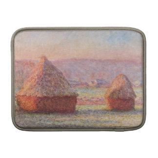 Monet's Haystacks, White Frost, Sunrise Sleeve For MacBook Air