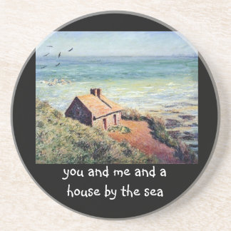 """Monet's """"House by the Sea"""" costers Drink Coaster"""