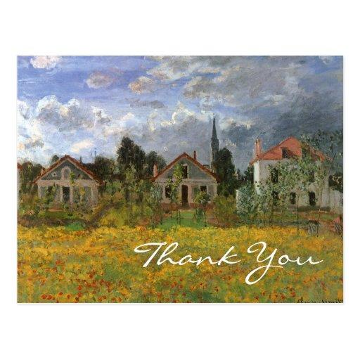 Monet's Houses at Argenteuil Postcard