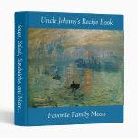 Monet's Impression Sunrise (soleil levant) - 1872 Vinyl Binders