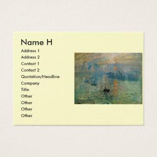 Monet's Impression Sunrise (soleil levant) - 1872 Business Card