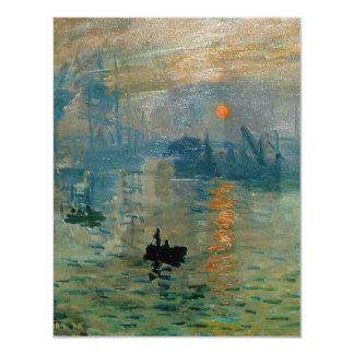 Monet's Impression Sunrise (soleil levant) - 1872 4.25x5.5 Paper Invitation Card