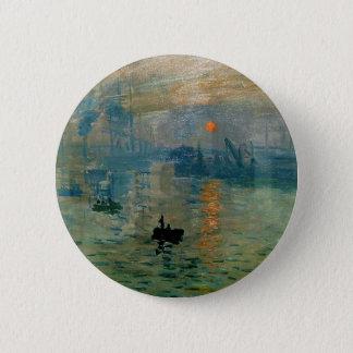 Monet's Impression Sunrise (soleil levant) - 1872 Pinback Button