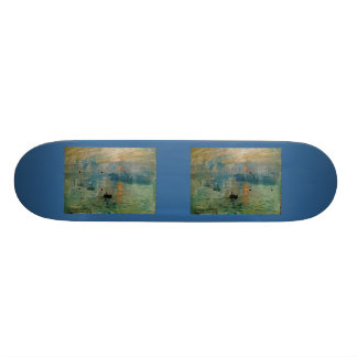 Monet's Impression Sunrise (soleil levant) - 1872 Skateboard Deck