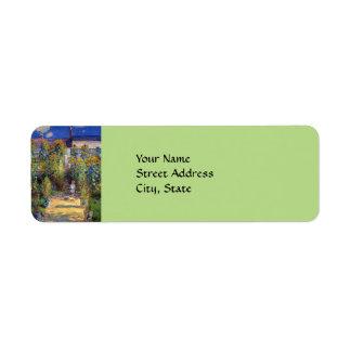 Monet's, The Artist's Garden at Vetheuil Label