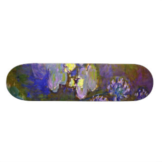 Monet's Water Lilies and Agapanthus Skateboard