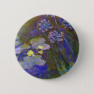 Monet's Water Lilies Button