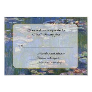 Monet's Water Lilies RSVP Response Card
