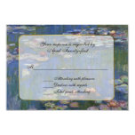 Monet's Water Lilies RSVP Response Card Invite