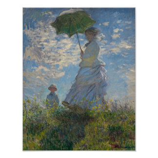 Monet's Woman with a parasol Poster