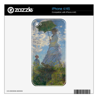 Monet's Woman with a parasol Skins For The iPhone 4