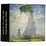 Monet's Woman with a Parasol (The Stroll / Walk) Binder