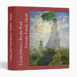 Monet's Woman with a Parasol (The Stroll / Walk) Vinyl Binder
