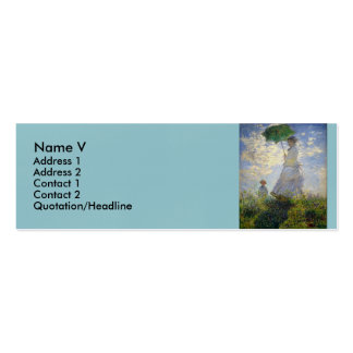 Monet's Woman with a Parasol (The Stroll / Walk) Double-Sided Mini Business Cards (Pack Of 20)