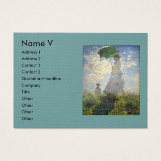 Monet's Woman with a Parasol (The Stroll / Walk) Business Card