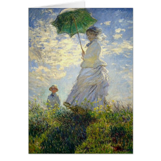 Monet's Woman with a Parasol (The Stroll / Walk) Card
