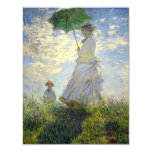 Monet's Woman with a Parasol (The Stroll / Walk) 4.25x5.5 Paper Invitation Card