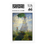 Monet's Woman with a Parasol (The Stroll / Walk) Postage Stamps