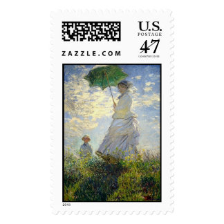 Monet's Woman with a Parasol (The Stroll / Walk) Postage Stamp