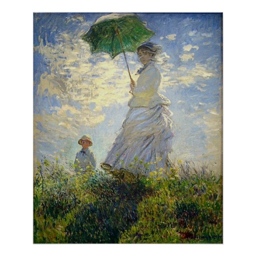 Monet's Woman with a Parasol (The Stroll / Walk) Print