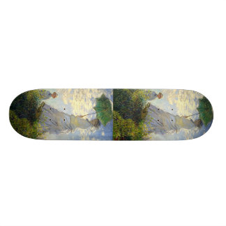Monet's Woman with a Parasol (The Stroll / Walk) Skateboard