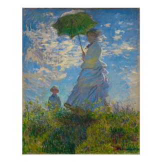 Monet's Woman with Parasol Poster
