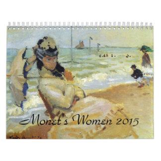 Monets Women 2015 Art Calendar