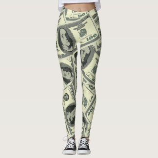 Money 100 Dollar Bills Leggings