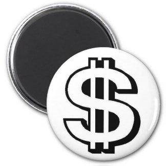 Money 2 Inch Round Magnet