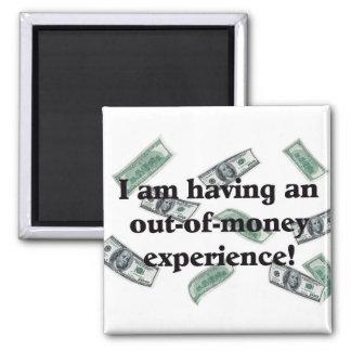 Money 2 Inch Square Magnet