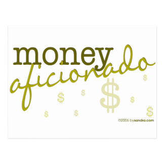 Money Aficionado Postcard