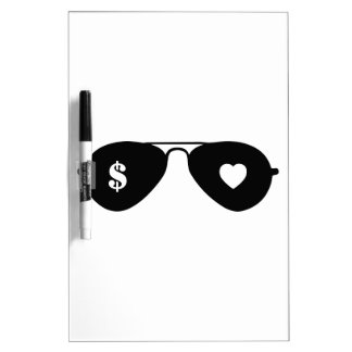 Money and Love Dry-Erase Boards