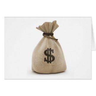 money bag greeting card