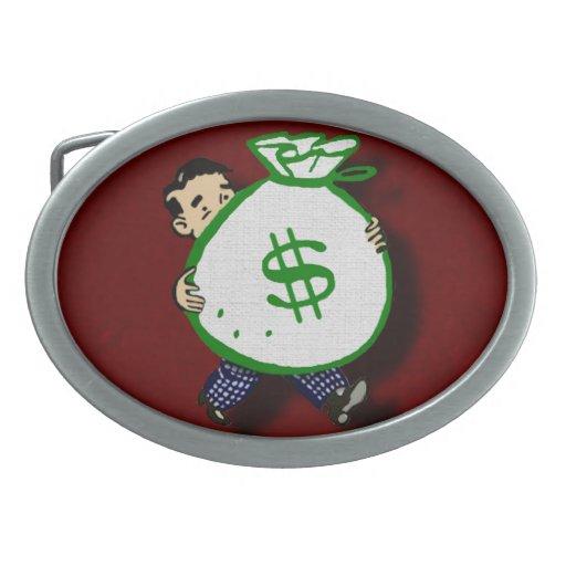 Money Bag Oval Belt Buckle
