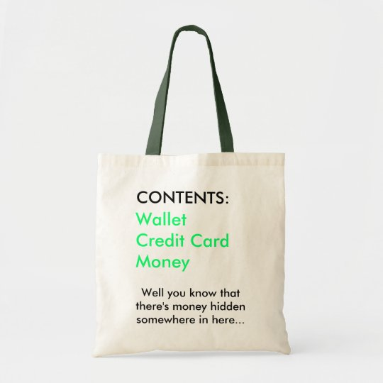 Money bag` tote bag