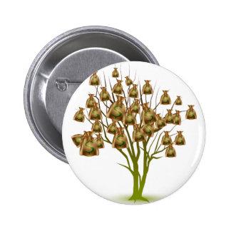 Money Bag Tree Icon Button