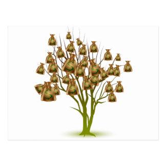 Money Bag Tree Icon Postcard