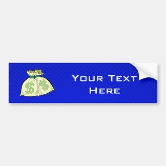 Money Bags; Blue Bumper Sticker