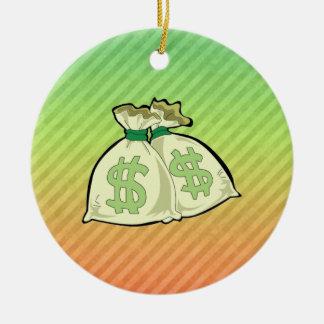 Money Bags design Ceramic Ornament