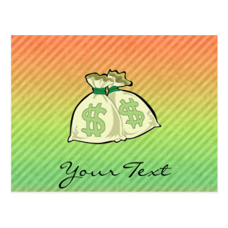 Money Bags design Postcard