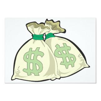 "Money Bags Invitations 5"" X 7"" Invitation Card"