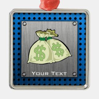 Money Bags; Metal-look Metal Ornament