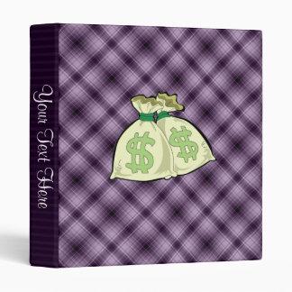 Money Bags; Purple Binder
