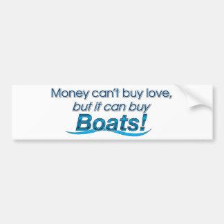 Money & Boats Car Bumper Sticker